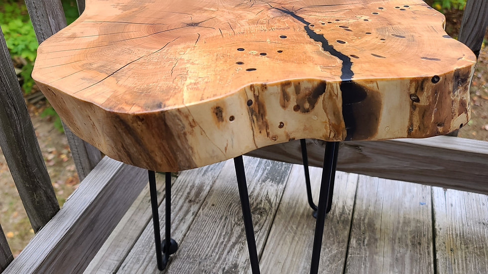 Maple & Onyx Butcher Block End Table