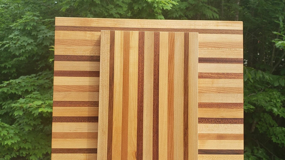 Teak, Maple & Cherry Set
