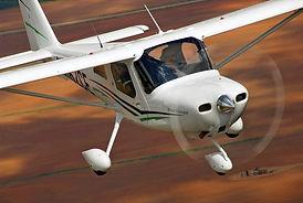 Light Sport plane flying