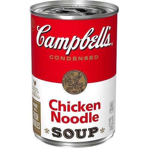 Sopa condensada de pollo y fideos Campbell, 10.75 oz. Poder