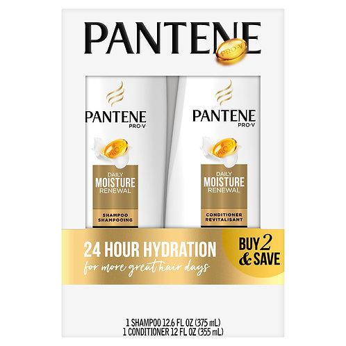 Pantene Shampoo Conditioner Set, Daily Moisture Renewal, 12-12.6 oz