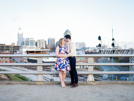 Downtown Raleigh Engagement Session | Logan + Ben | North Carolina Wedding Photographer