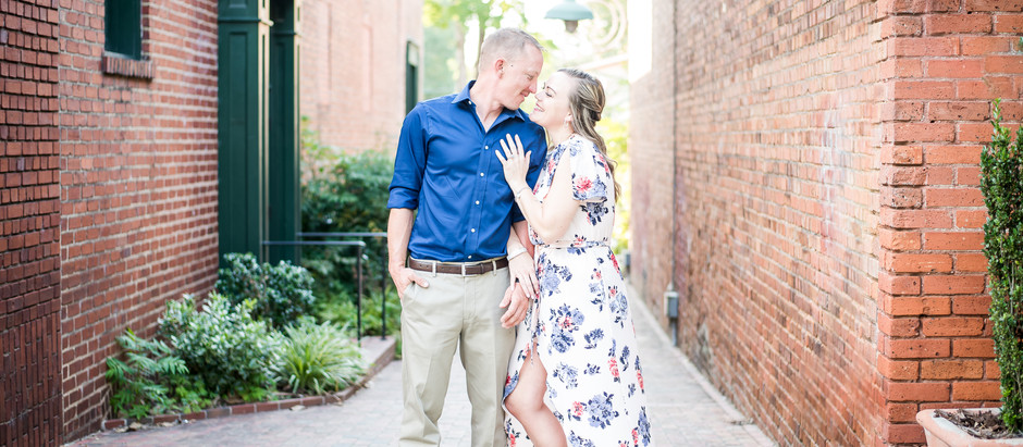 Downtown Southern Pines Engagement Session | Lois & James | North Carolina Wedding Photographer