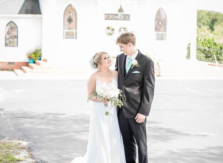 Antioch Baptist Church Wedding | Leslie + Patrick | North Carolina Wedding Photographer