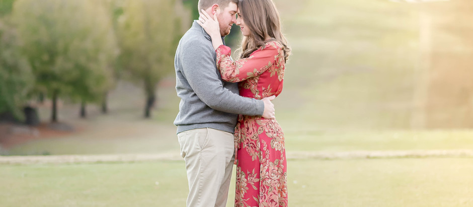Carolina Country Club Engagement Session | Ashley + Jake | North Carolina Wedding Photographer