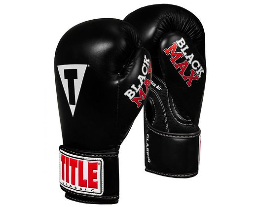 TITLE Classic Black Max Boxing Gloves