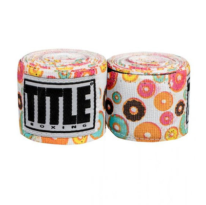 TITLE Donut Print Hand Wraps 180""