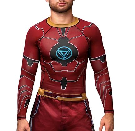 HAYABUSA X MARVEL Iron Man Long Sleeve Rash Guard