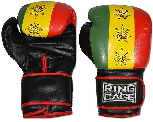RING TO CAGE Gym Training Gloves - Rastafarian