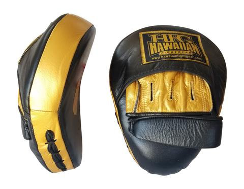 "HFG PANTHER II PUNCH MITTS-""GOLD/BLACK 24K"""