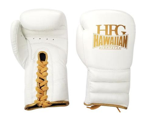"""HFG """"WHITE GOLD LABEL"""" LACE UP GLOVES"""