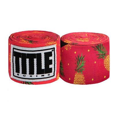 "Pineapple Print Hand Wraps 180"""