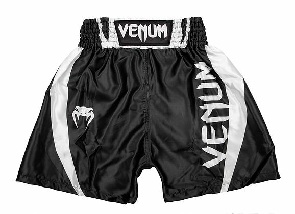 Venum Elite Kids Boxing Shorts - Black/White