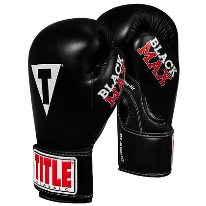 Classic Black Max Boxing Gloves
