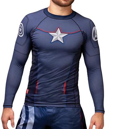 HAYABUSA X MARVEL Captain America Long Sleeve Rash Guard