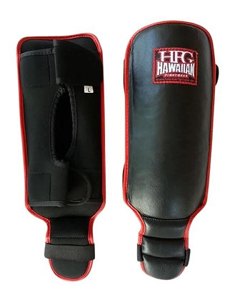 """HFG PLATINUM II """"YOUTH"""" SHIN GUARDS-BLK/RED"""