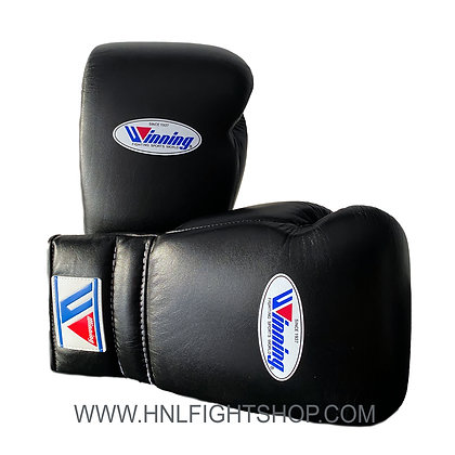 Winning Lace Up Gloves Black