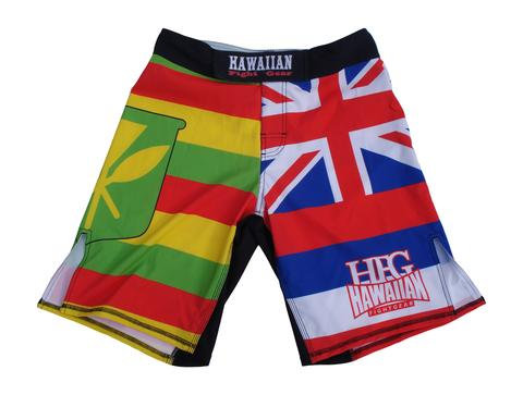 "HFG ""TWIN FLAGS"" FIGHTSHORTS"