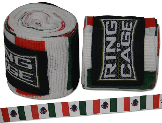 """RING TO CAGE 180"""" Mexican Style Stretchable - Flag Prints"""