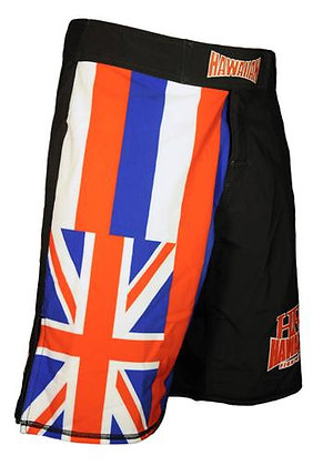 "HFG ""HAWAIIAN FLAG"" FIGHTSHORTS BLK."