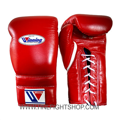 Winning Lace Up Gloves Red
