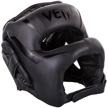 VENUM ELITE IRON HEADGEAR - BLACK/BLACK