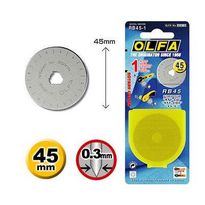 Olfa 45mm Rotary Cutter Blade - 1