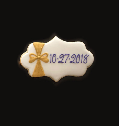 6 Wedding date plaques with bow ($2.70)