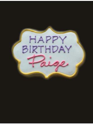 6 Happy Birthday Plaques ($2.75 each)