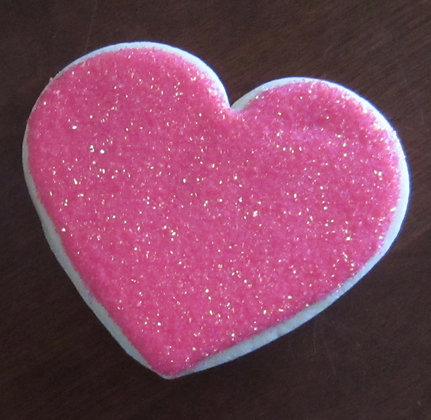 6 Sparkling hearts ($2 each)