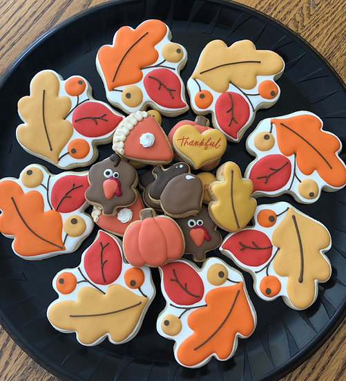Thanksgiving wreath & minis combo