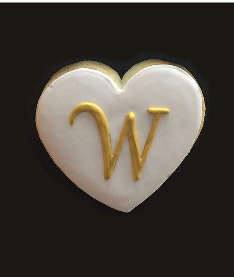 6 Monogram hearts ($2.50 each)