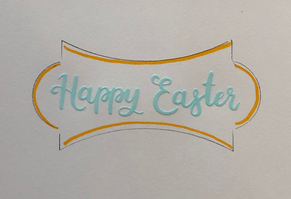 "4 ""Happy Easter"" plaques ($2 each)"