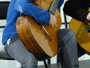 Audition de guitare et de flûte traversière du 15 février 2018 réussie.