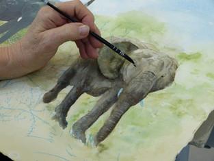 Cours aquarelle adultes du lundi après-midi