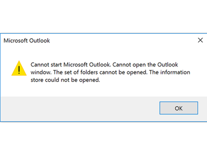 Fix Outlook Error – Cannot expand the folder. The set of folders cannot be opened.