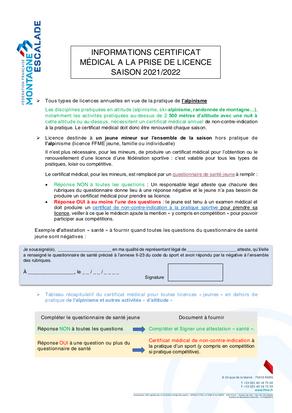 État des lieux sur les certificats médicaux