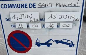 Stationnement interdit à Saint-Maximin pendant deux jours