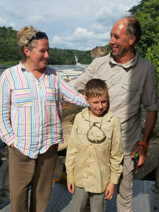 Belinda, Richard and their son Salah from UK
