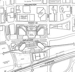 Union Station as a winter garden map overview
