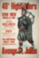 48th Highlander Recruitment Poster