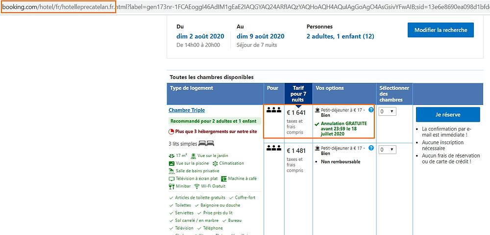 """Tarif hôtel """"Le Pré Catelan"""" en août à Antibes sur Booking"""