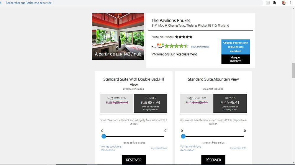 bon plan hôtel à Phuket sur le site de réservation P2S Travel, avec l'hôtel 5 étoiles The Pavilions Phuket à Phuket en Thaïlande