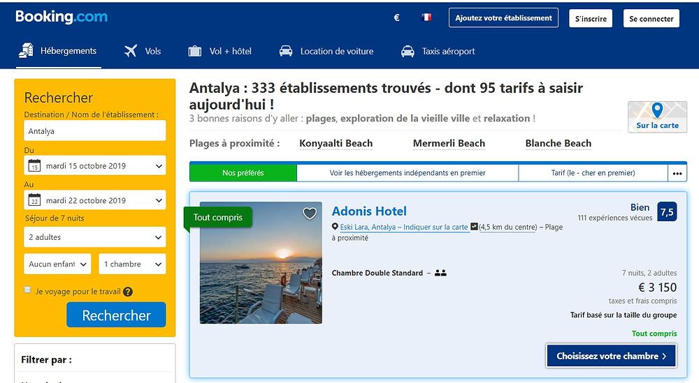 hotel 5 étoile all inclusive Antalya