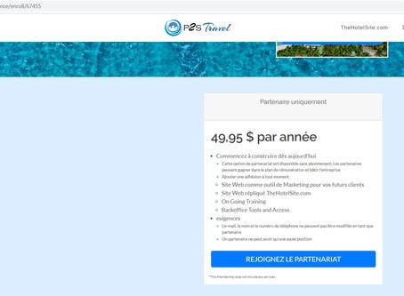 """Revenu complémentaire / activité domicile / MLM voyage: Devenez """"partenaire"""" P2S Travel pour 45€/an!"""