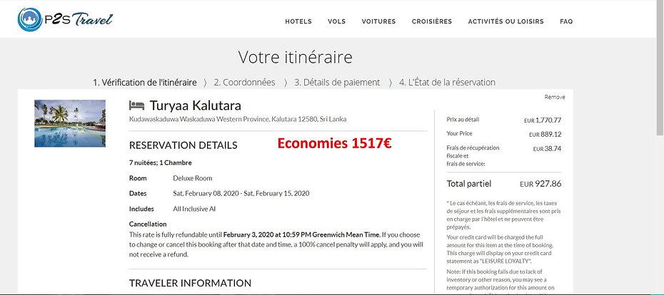 comparatif tarifs hôtels site réservation p2s travel/ Travorium