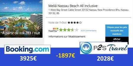 P2STravel: hôtel Mélia Nassau Beach Bahamas