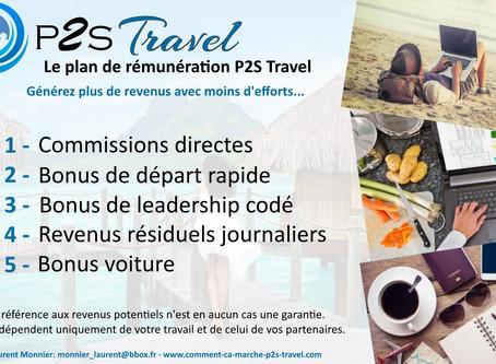 P2S Travel: Le plan de rémunération P2S Travel