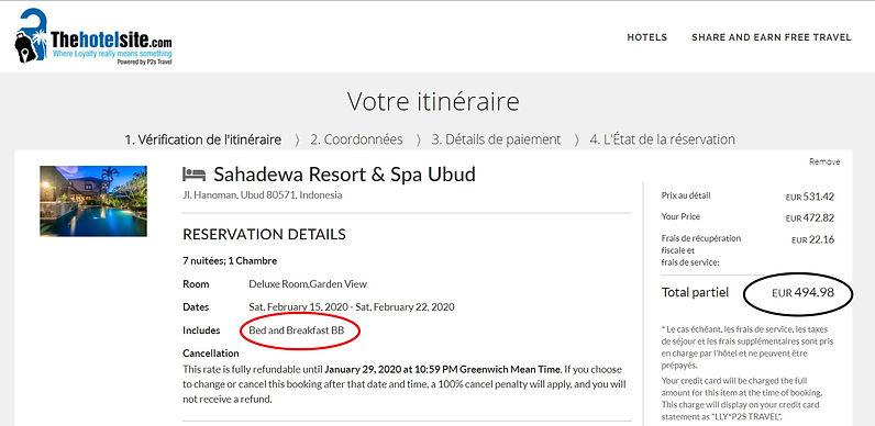 réservation 7 nuit pour 2 personnes à l'hôtel Sahadewa Resort & Spa à Bali - Petits déjeuners inclus  672€ sur Hotels;com  495€ sur Thehotelsite    Soit 177€ moins cher sur Thehotelsite !!!(un peu plus de 25% moins cher)