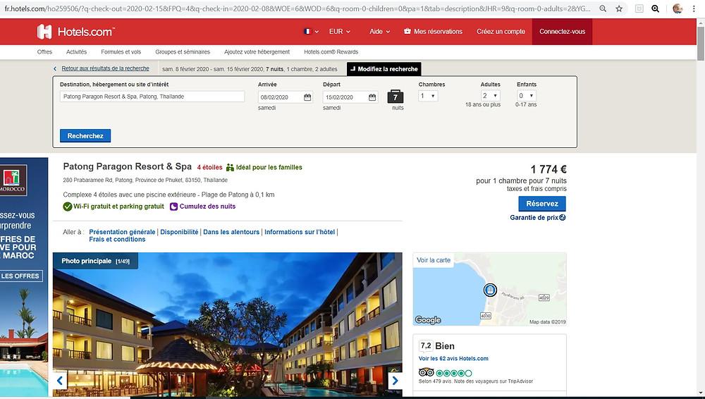hôtel 4 étoiles Patong Paragon Resort & Spa à Phuket